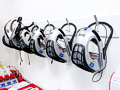 Helmet Racks and Hood Dispensers