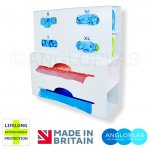 GAD4-2-BIO Quad Glove Box and Double Apron Dispenser with Lifelong Antimicrobial Protection