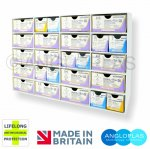 Suture20-(4X5)-BIO. Wall Rack/Dispenser - 20 Compartment + Lifelong Antimicrobial Protection