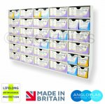 Suture30-(5x6)-BIO. Wall Rack/Dispenser  - 30 Compartment + Lifelong Antimicrobial Protection