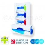 VGDA14-3-BIO. Triple Glove Box and Apron Dispenser + Lifelong Antimicrobial Protection
